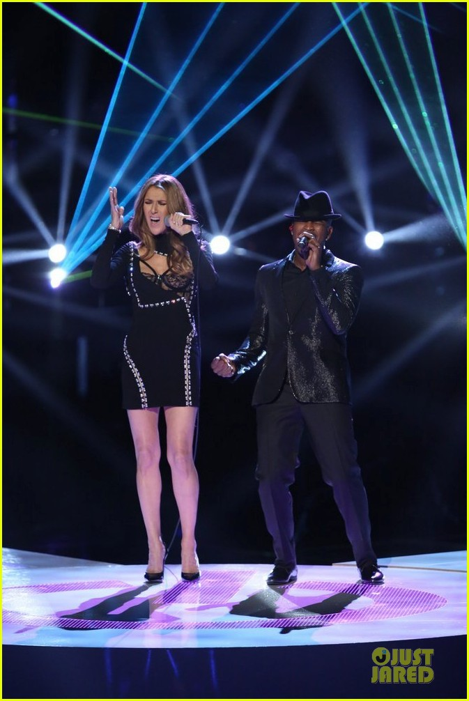 celine dion ne yo incredible performance on the voice video 05