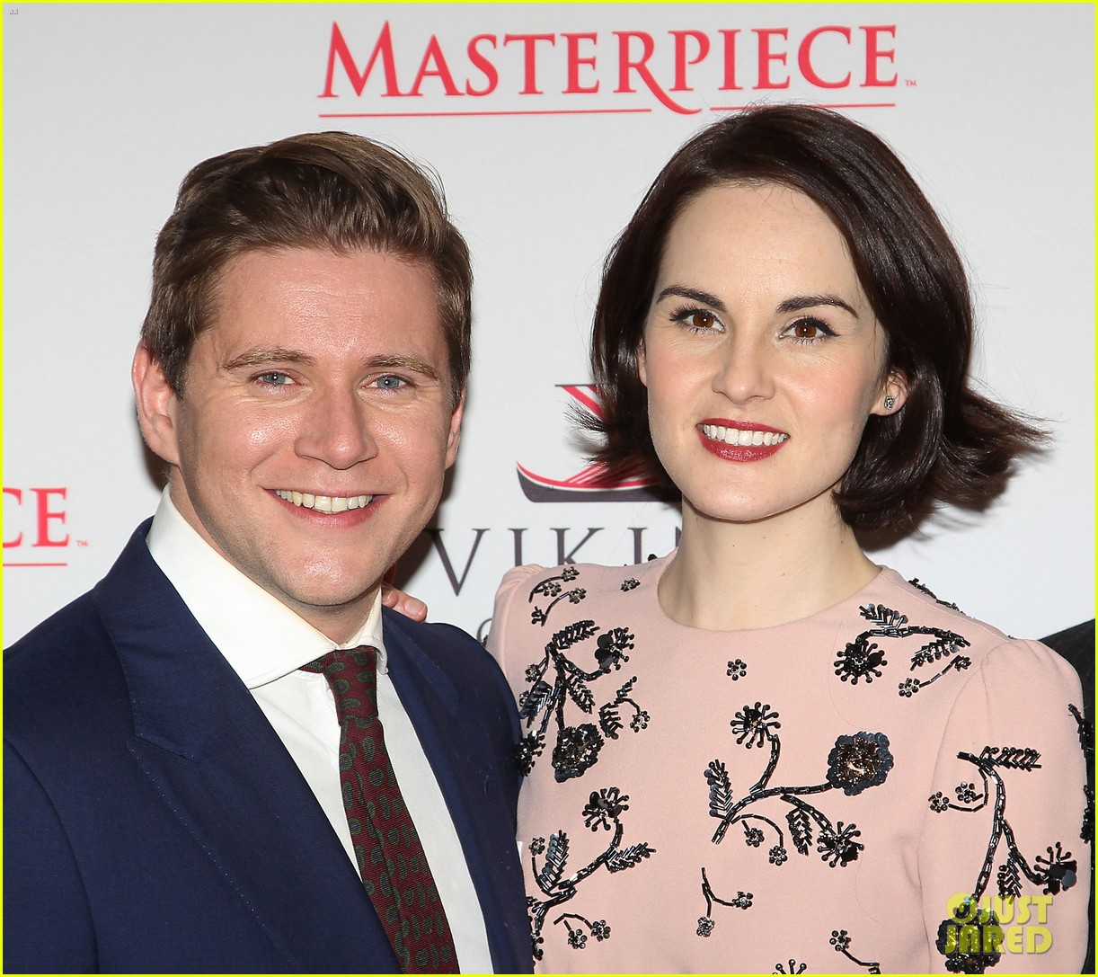 michelle dockery rob james collier downton abbey season 4 screening 183009393