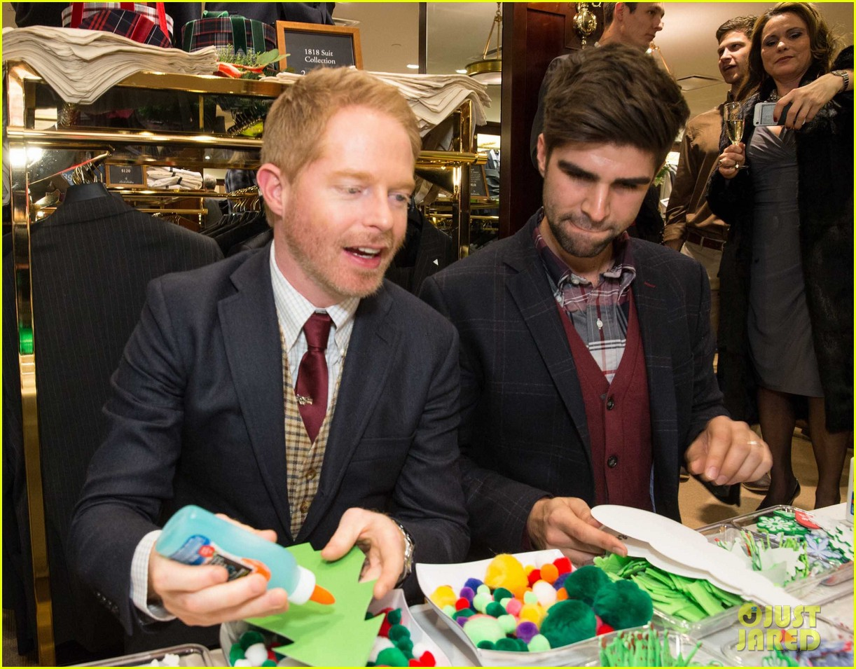 jesse tyler ferguson colton haynes brook brothers holiday celebration 11