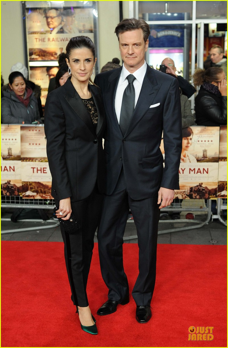 colin firth jeremy irvine railway man london premiere 013005002