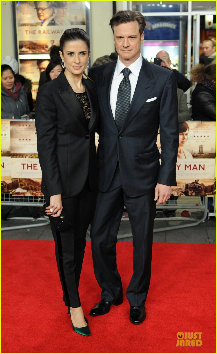 colin firth jeremy irvine railway man london premiere 14