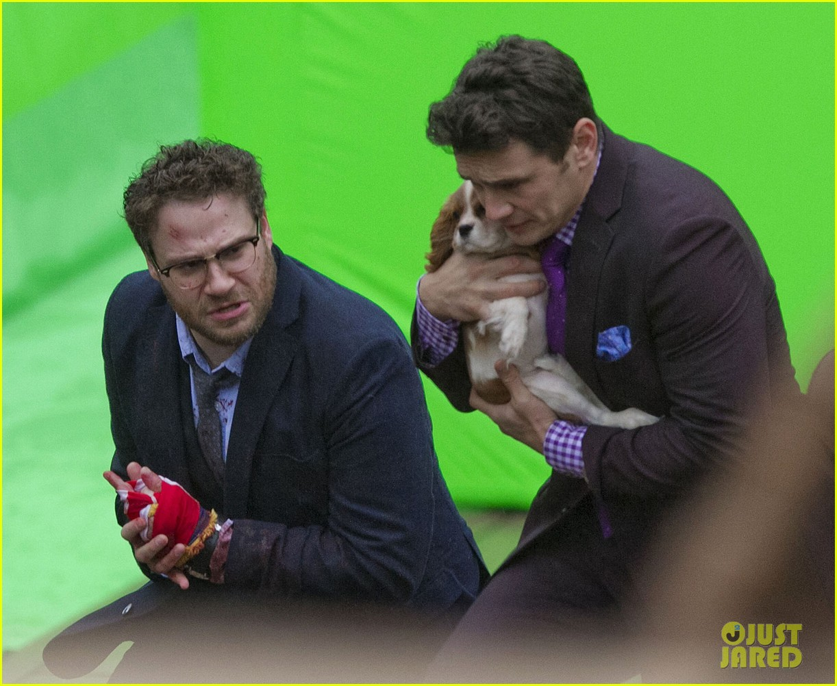 james franco cradles puppy with seth rogen for interview 033002914