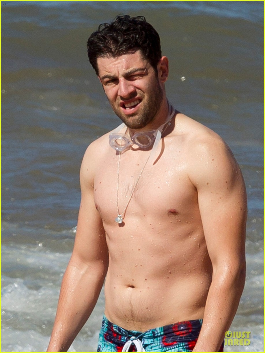 max greenfield shirtless vacation with bikini clad wife tess 063020272