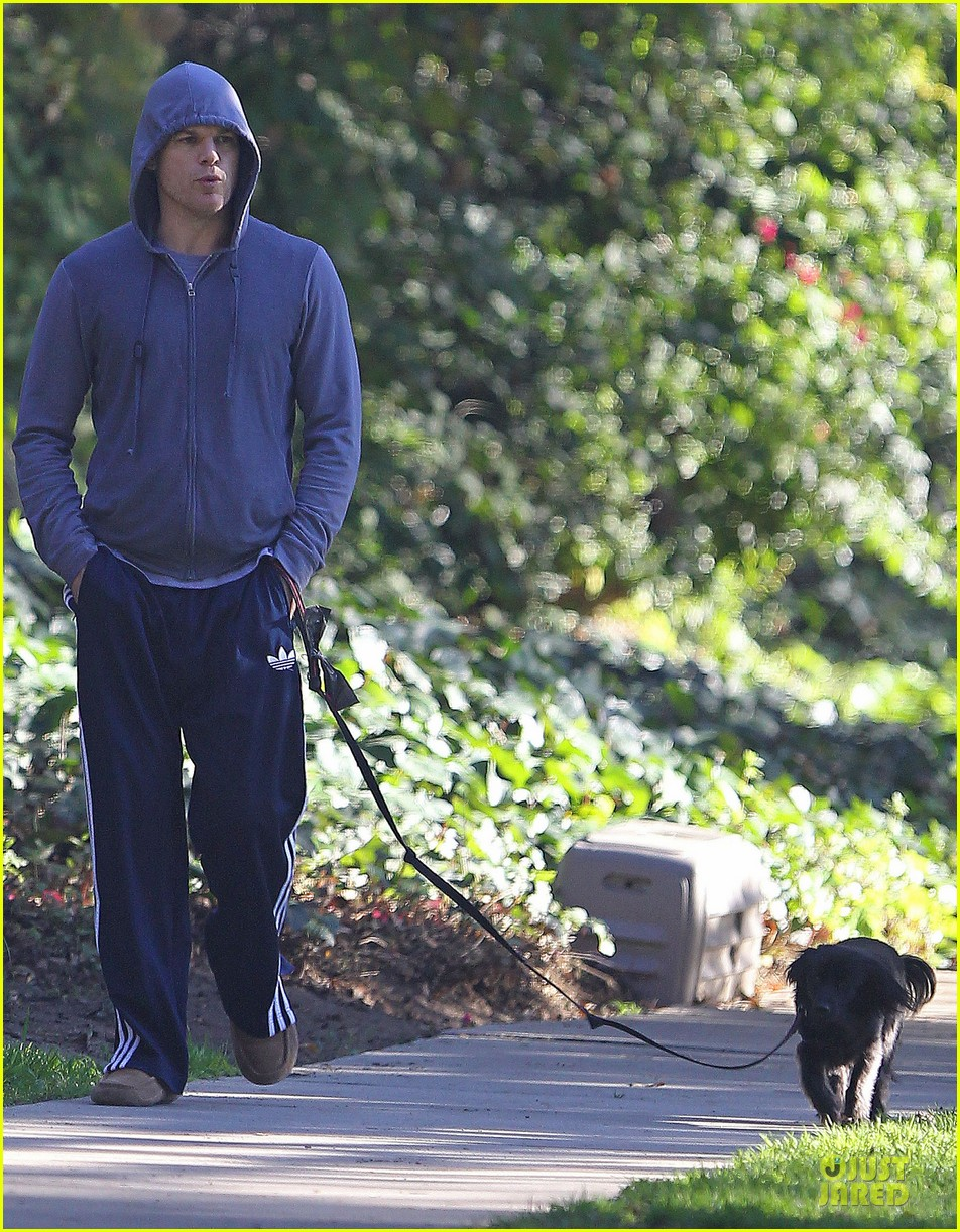 michael c hall low profile walk with pet pooch 03
