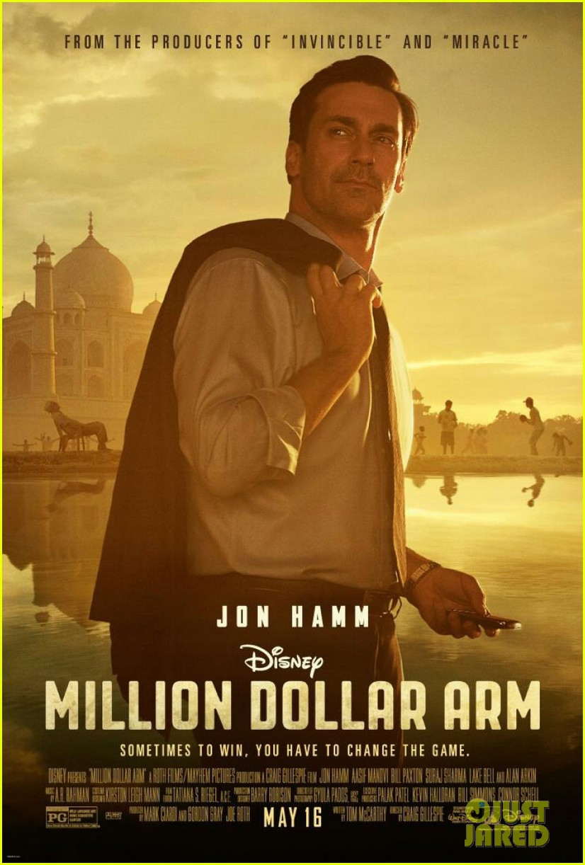 jon hamm million dollar arm poster trailer 033016617