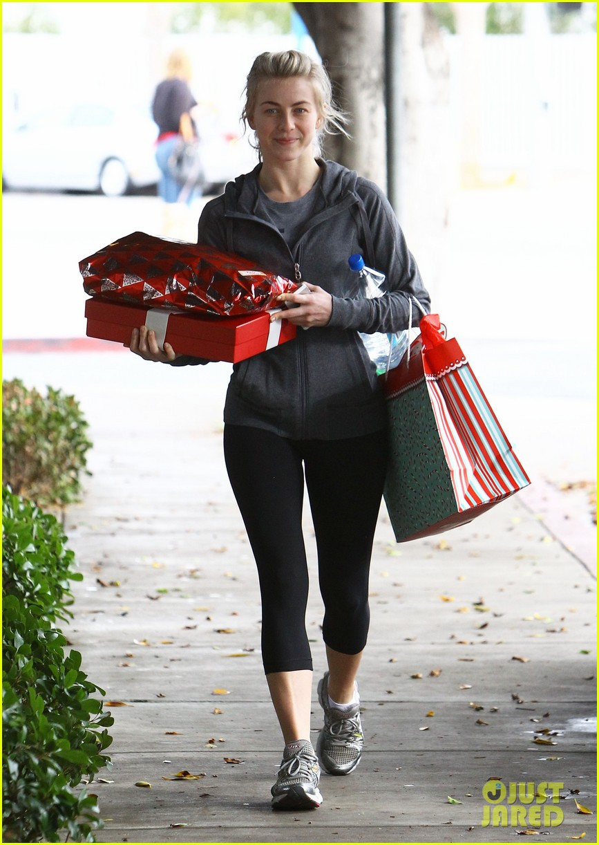 julianne hough is ready for christmas with armful of gifts 18