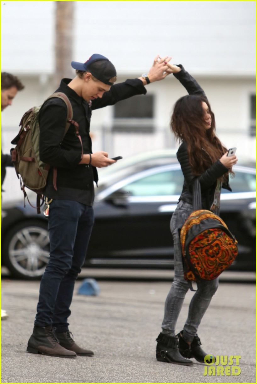 vanessa hudgens dance take silly selfies in a parking lot 083014649