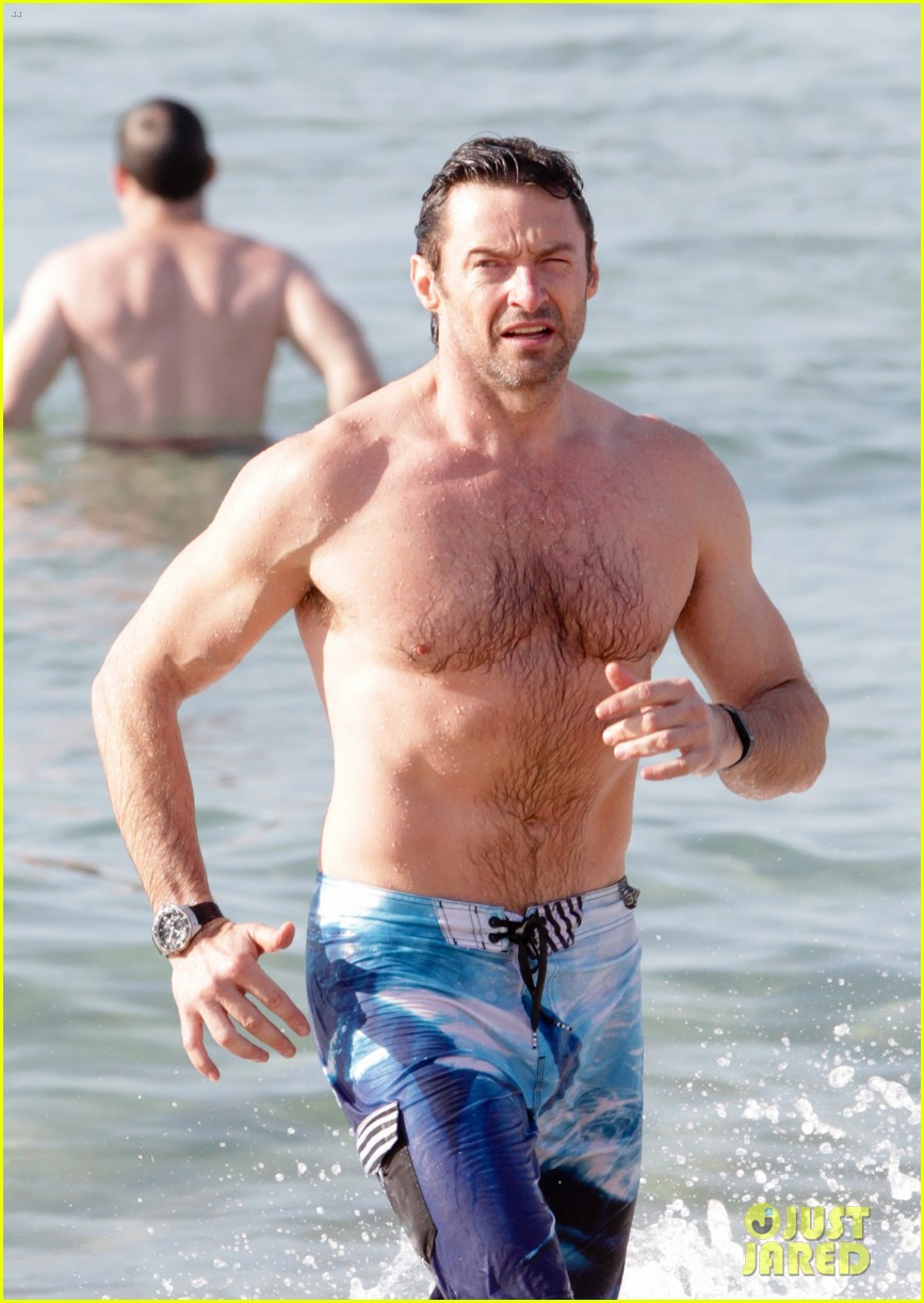 hugh jackman goes sexy shirtless after pan casting news 07