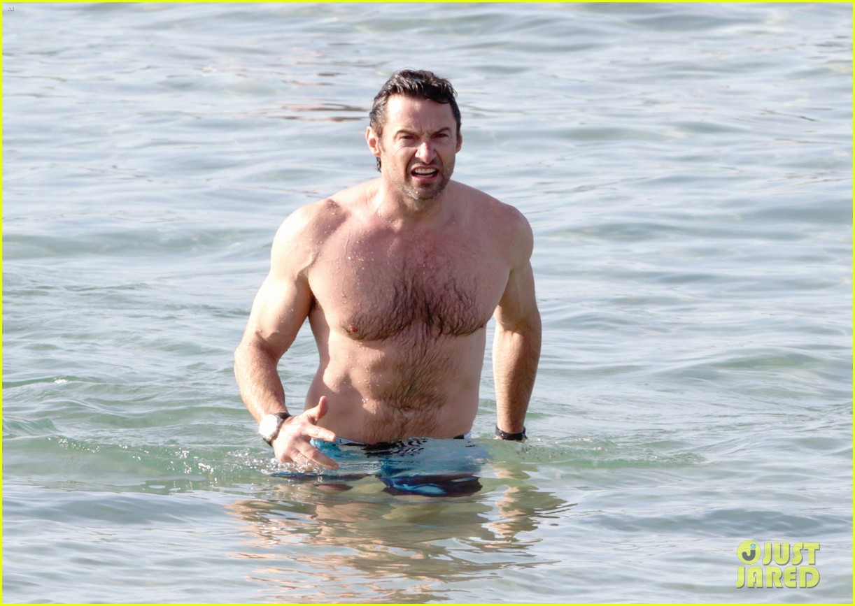 hugh jackman goes sexy shirtless after pan casting news 14