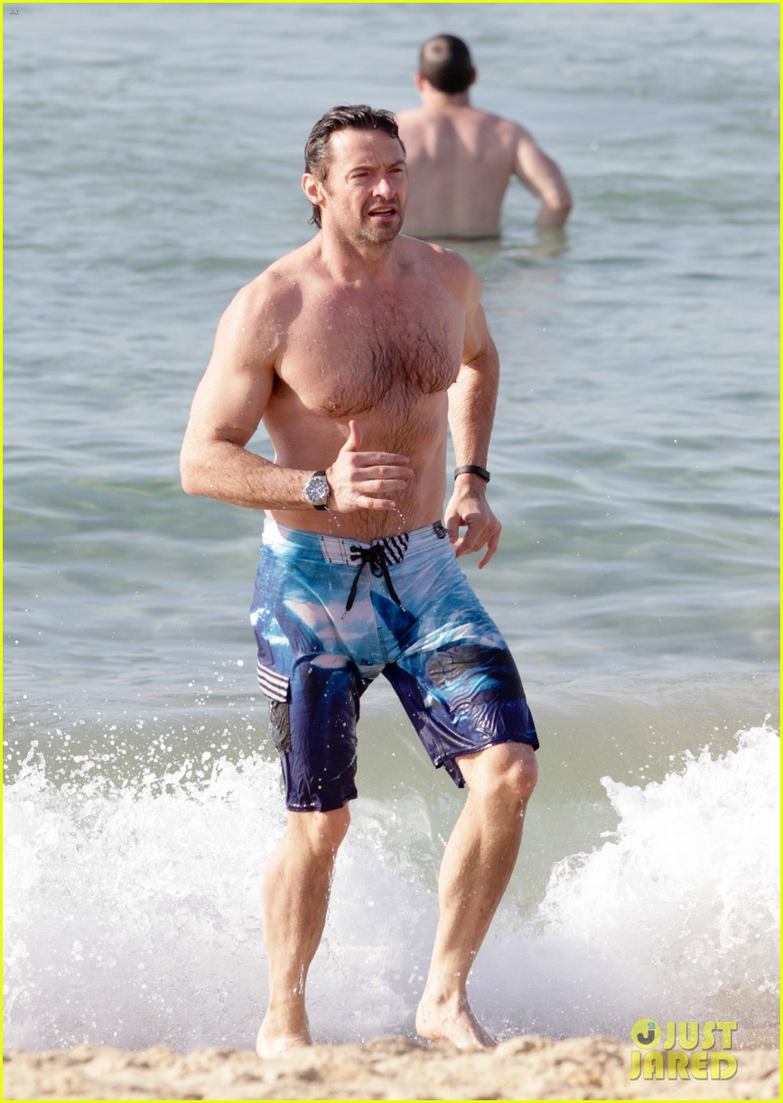hugh jackman goes sexy shirtless after pan casting news 15