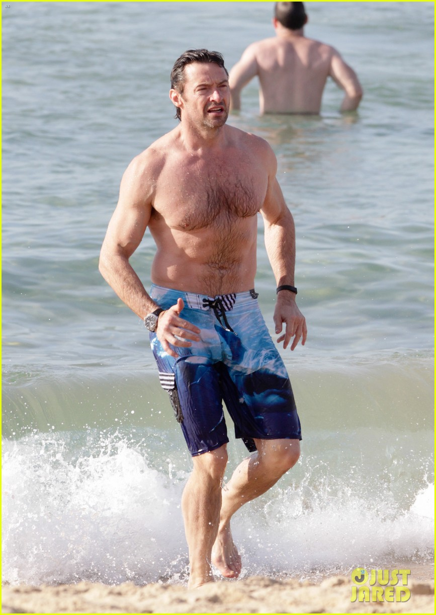 hugh jackman goes sexy shirtless after pan casting news 223015073