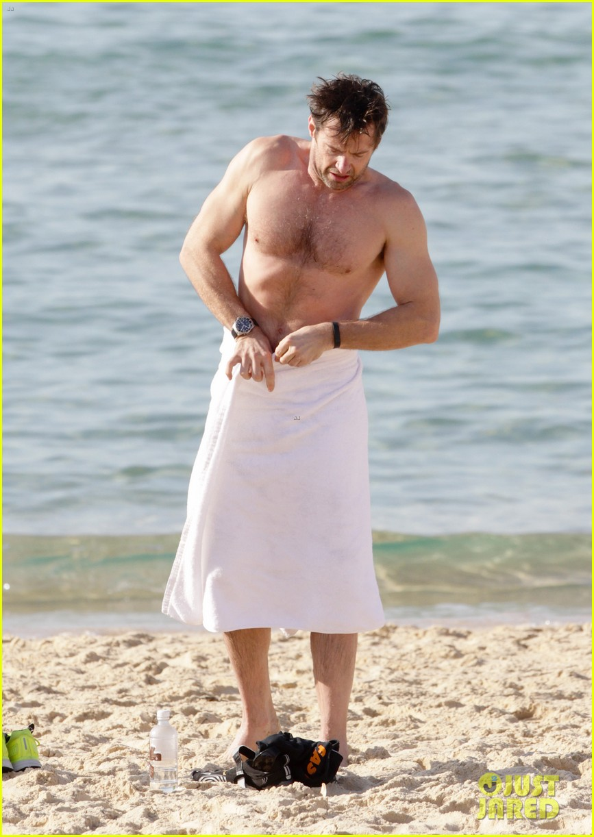 hugh jackman goes sexy shirtless after pan casting news 26