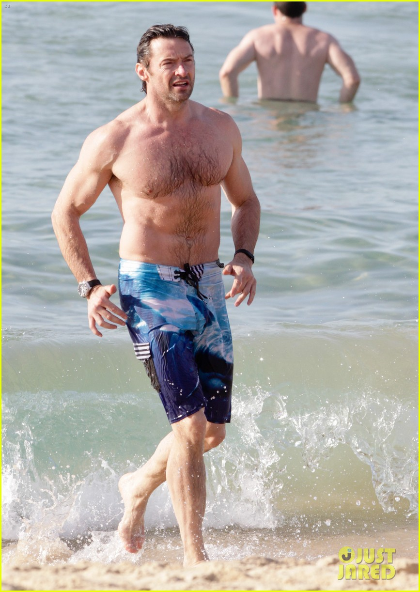 hugh jackman goes sexy shirtless after pan casting news 273015078