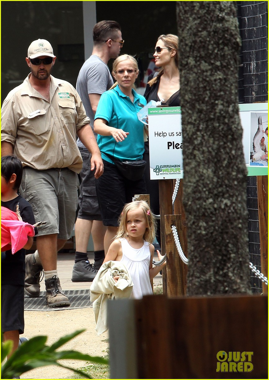 angelina jolie brad pitt visit the zoo with all six kids 71