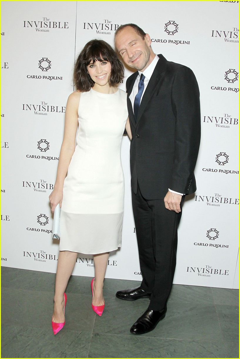 felicity jones ralph fiennes invisible woman nyc screening 033008800
