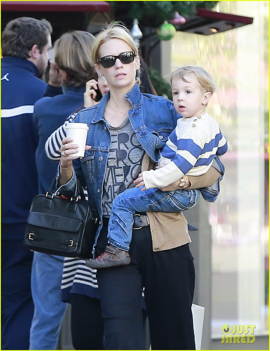 january jones takes xander to meet santa claus 253007078