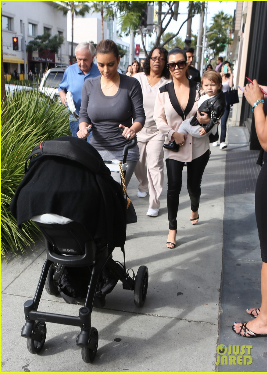 kim kourtney kardashian get lunch with their daughters 21