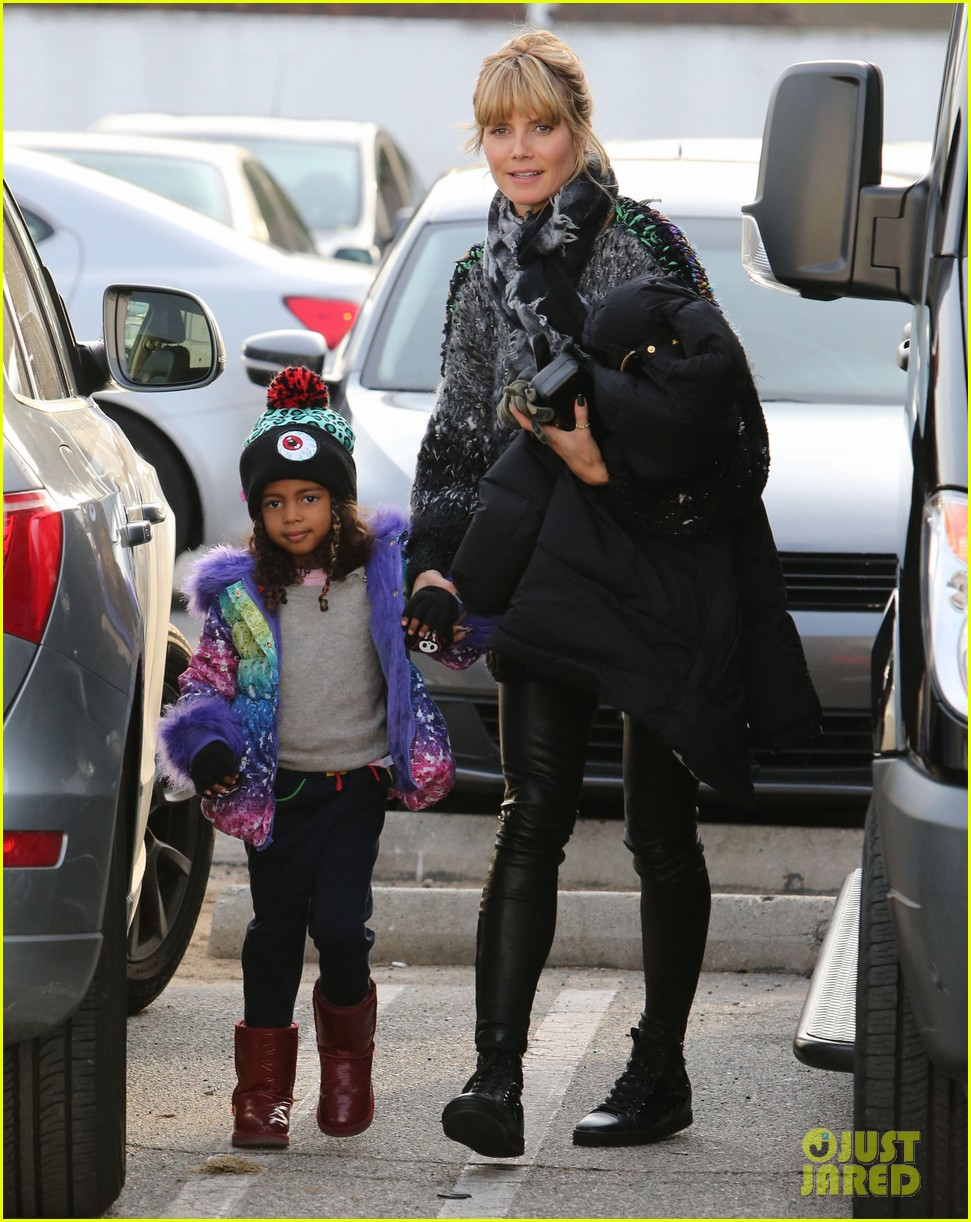 heidi klum spends weekend with her daughters 03