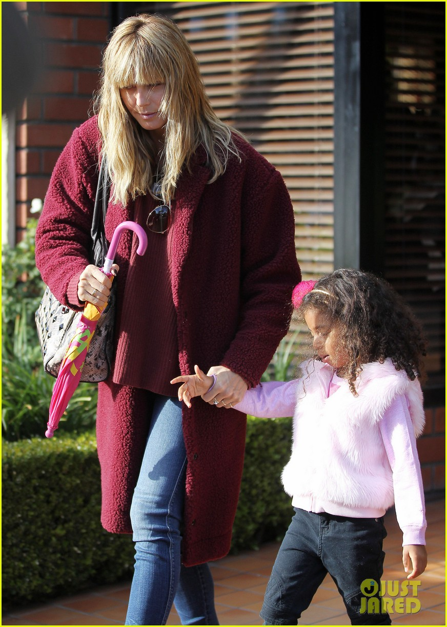 heidi klum spends weekend with her daughters 10