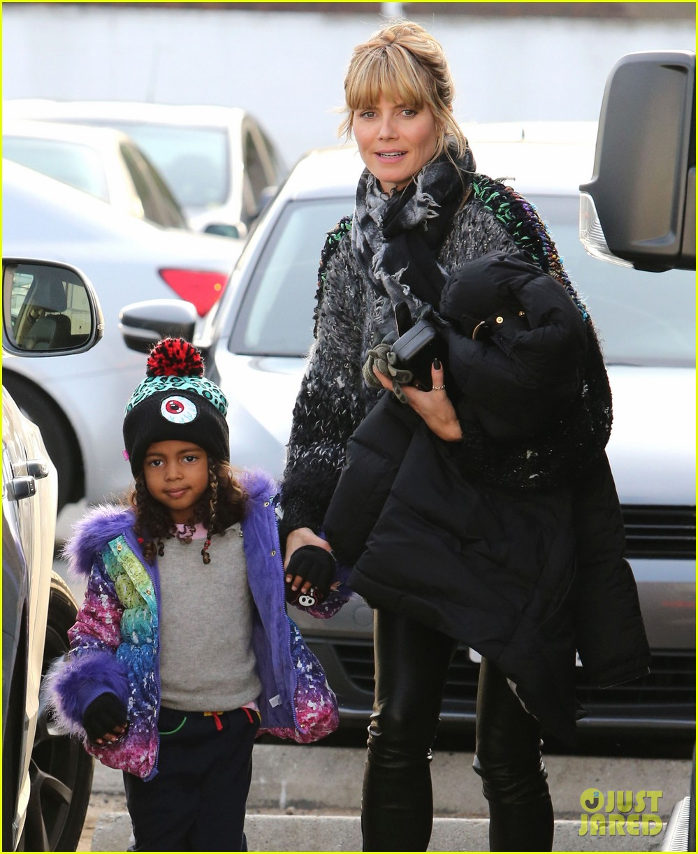 heidi klum spends weekend with her daughters 12
