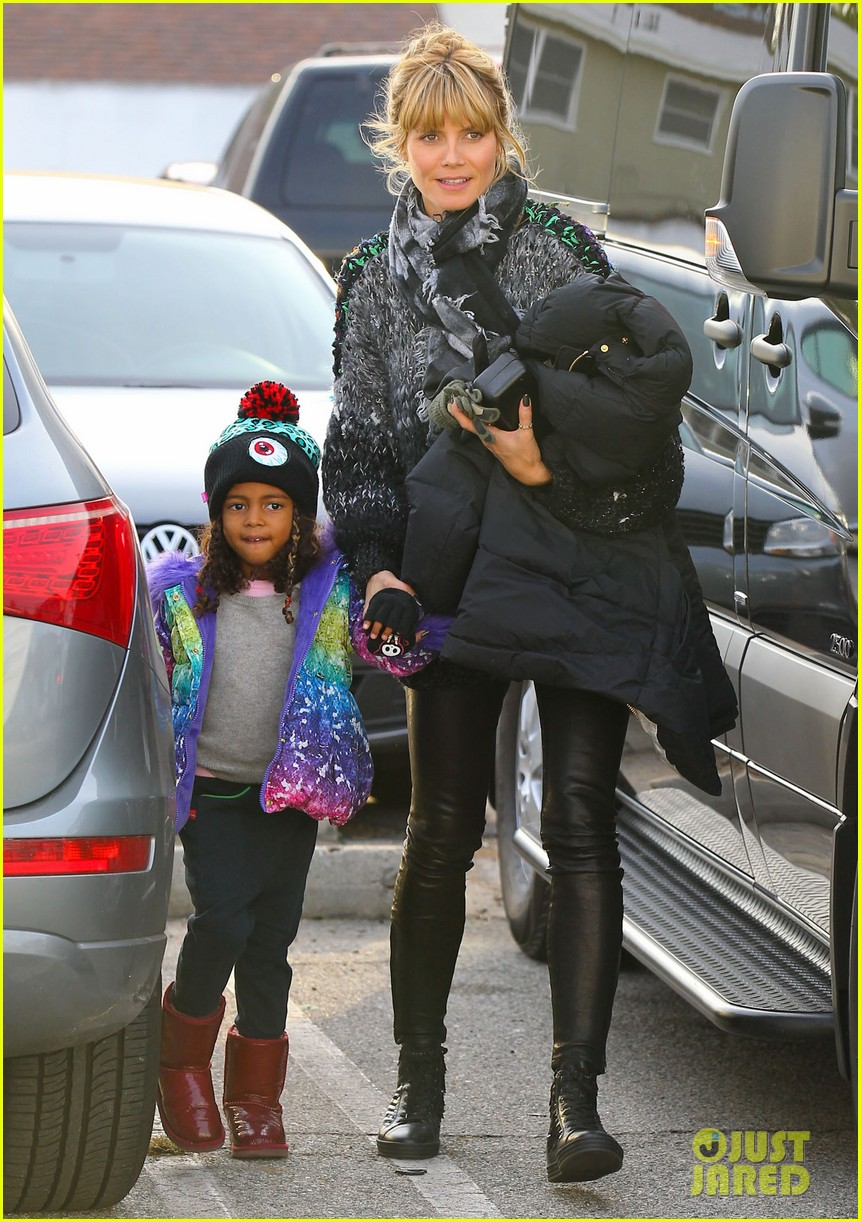 heidi klum spends weekend with her daughters 13