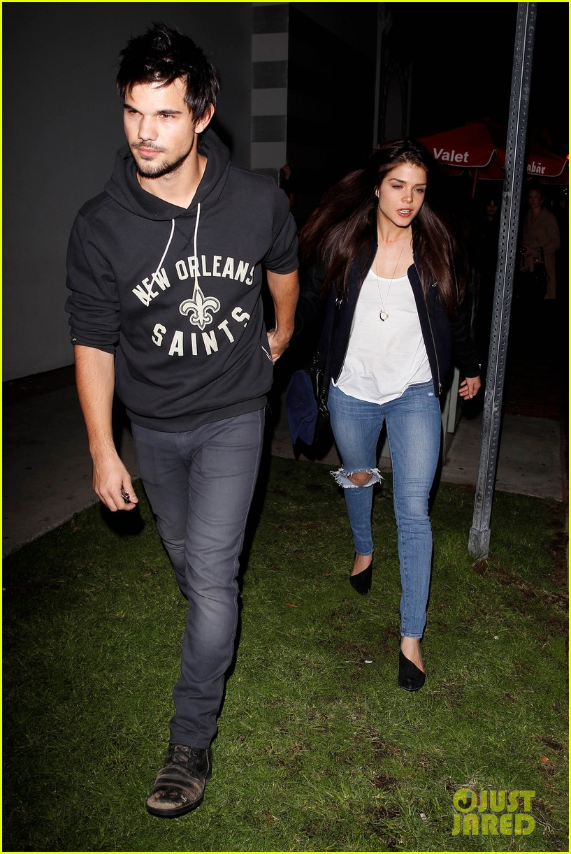 taylor lautner marie avgeropoulos acabar dinner date duo 14