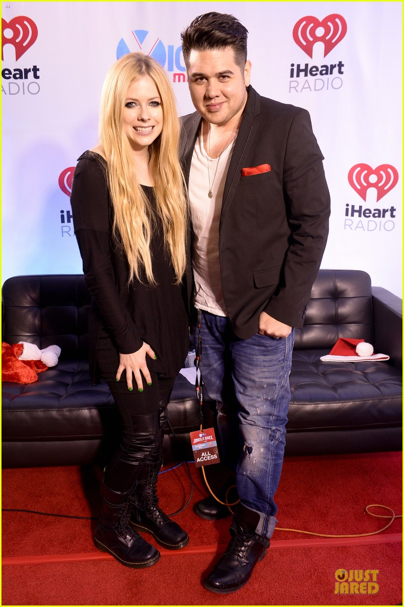 avril lavigne chad kroeger y100 jingle ball 2013 pair 083015632