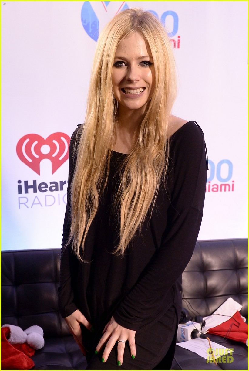 avril lavigne chad kroeger y100 jingle ball 2013 pair 093015633