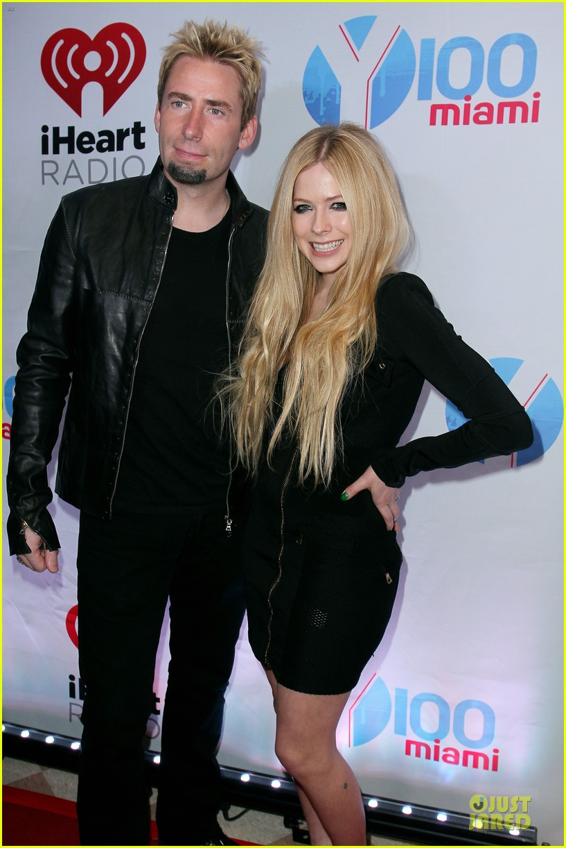 avril lavigne chad kroeger y100 jingle ball 2013 pair 313015655