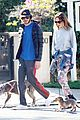 leighton meester adam brody morning dog walk 05