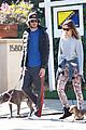leighton meester adam brody morning dog walk 09