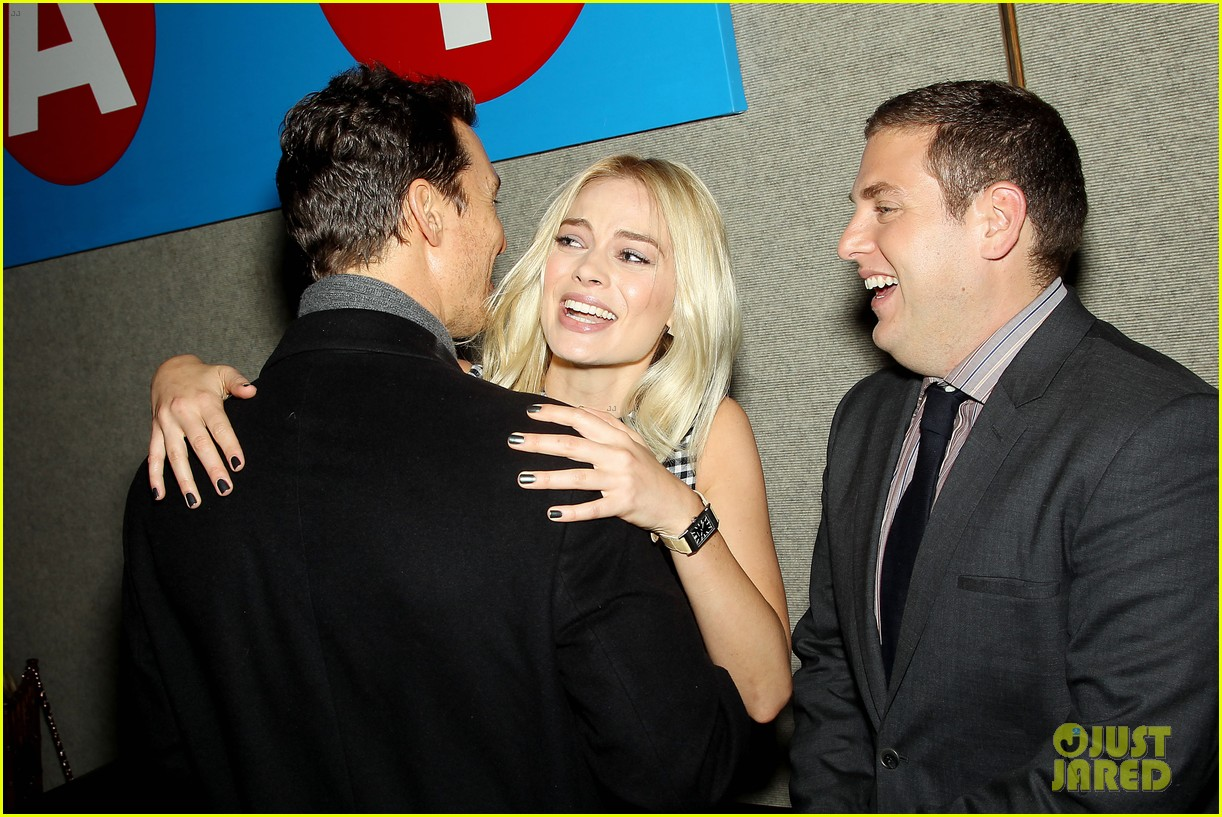 matthew mcconaughey wolf of wall street luncheon with margot robbie 25