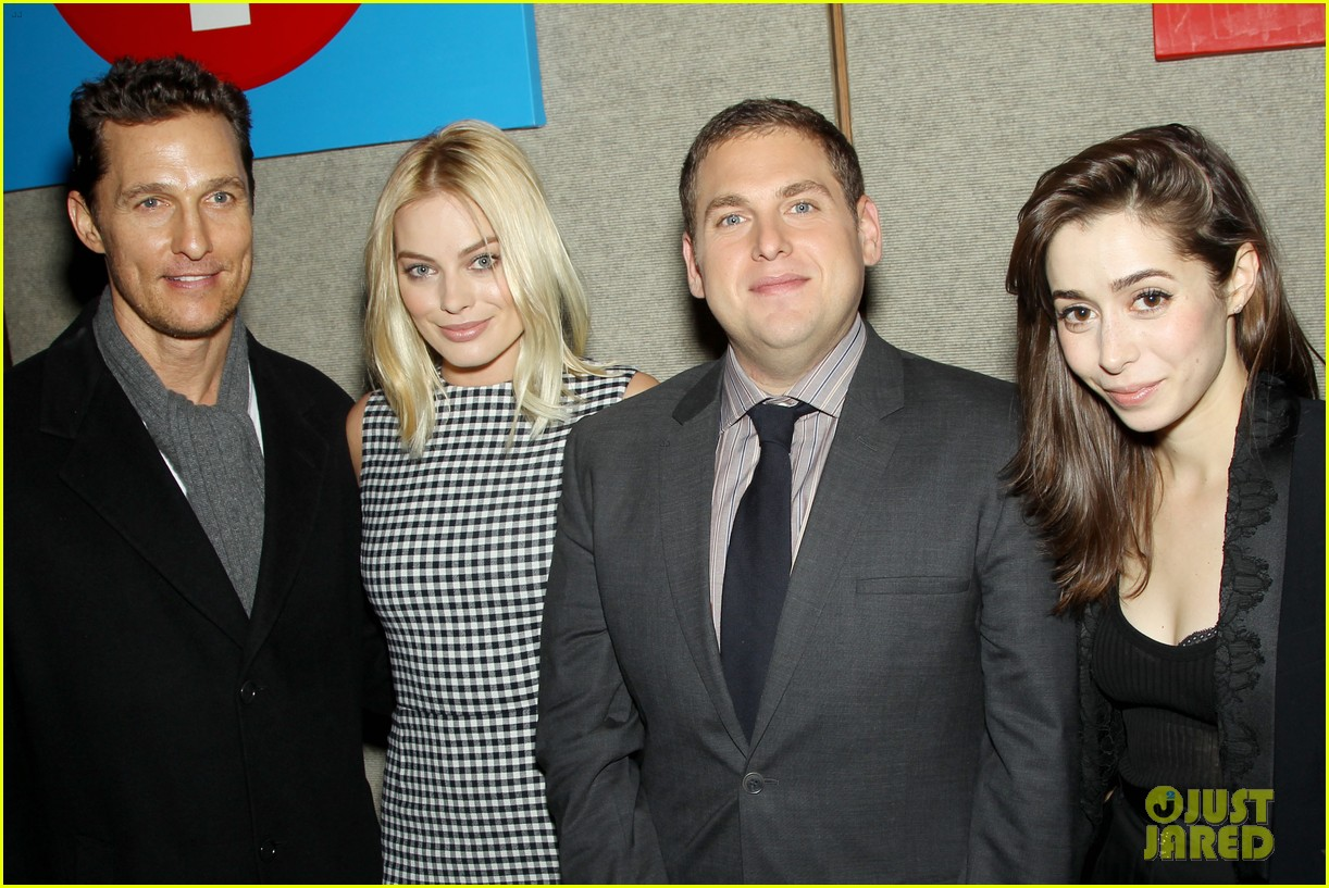 matthew mcconaughey wolf of wall street luncheon with margot robbie 263014592
