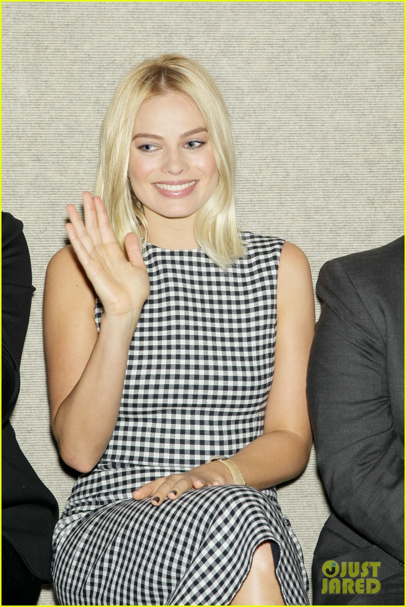 matthew mcconaughey wolf of wall street luncheon with margot robbie 313014597