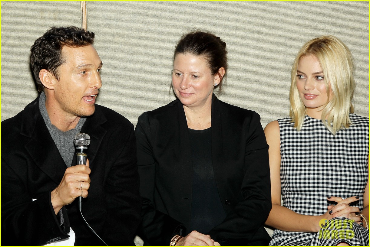 matthew mcconaughey wolf of wall street luncheon with margot robbie 403014606