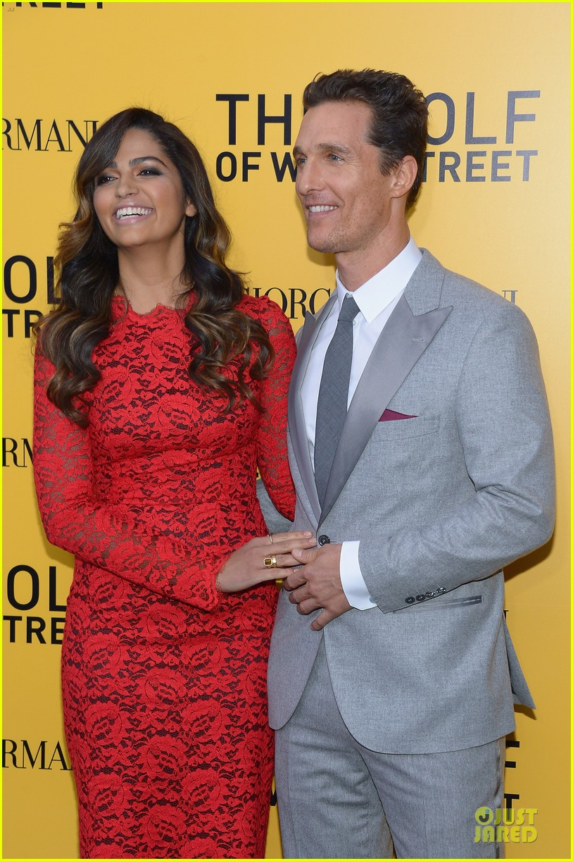matthew mcconaughey camila alves wolf of wall street nyc premiere 02