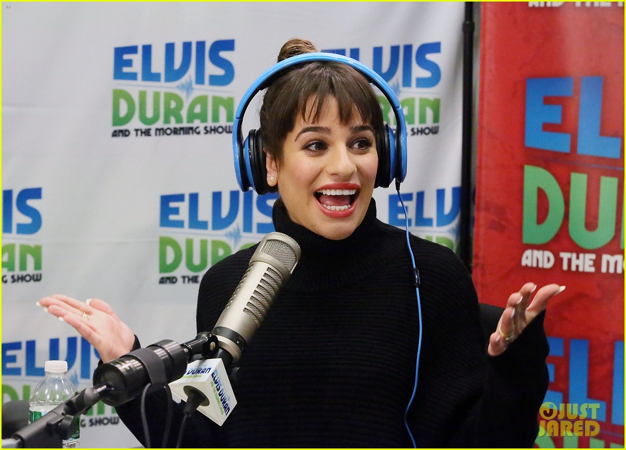 lea michele cannonball makes radio debut with elvis duran 173012931