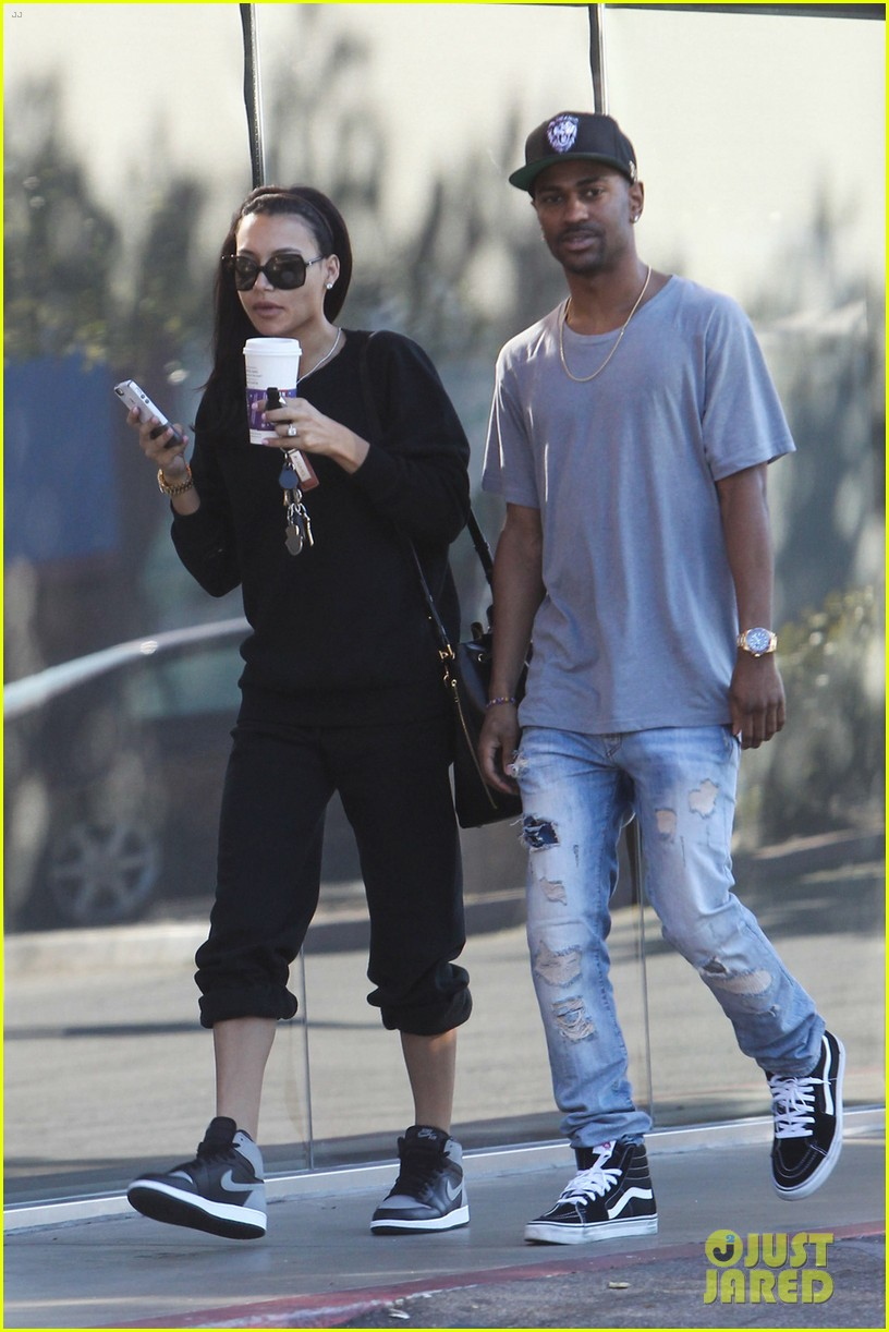 naya rivera big sean casual coffee couple 04