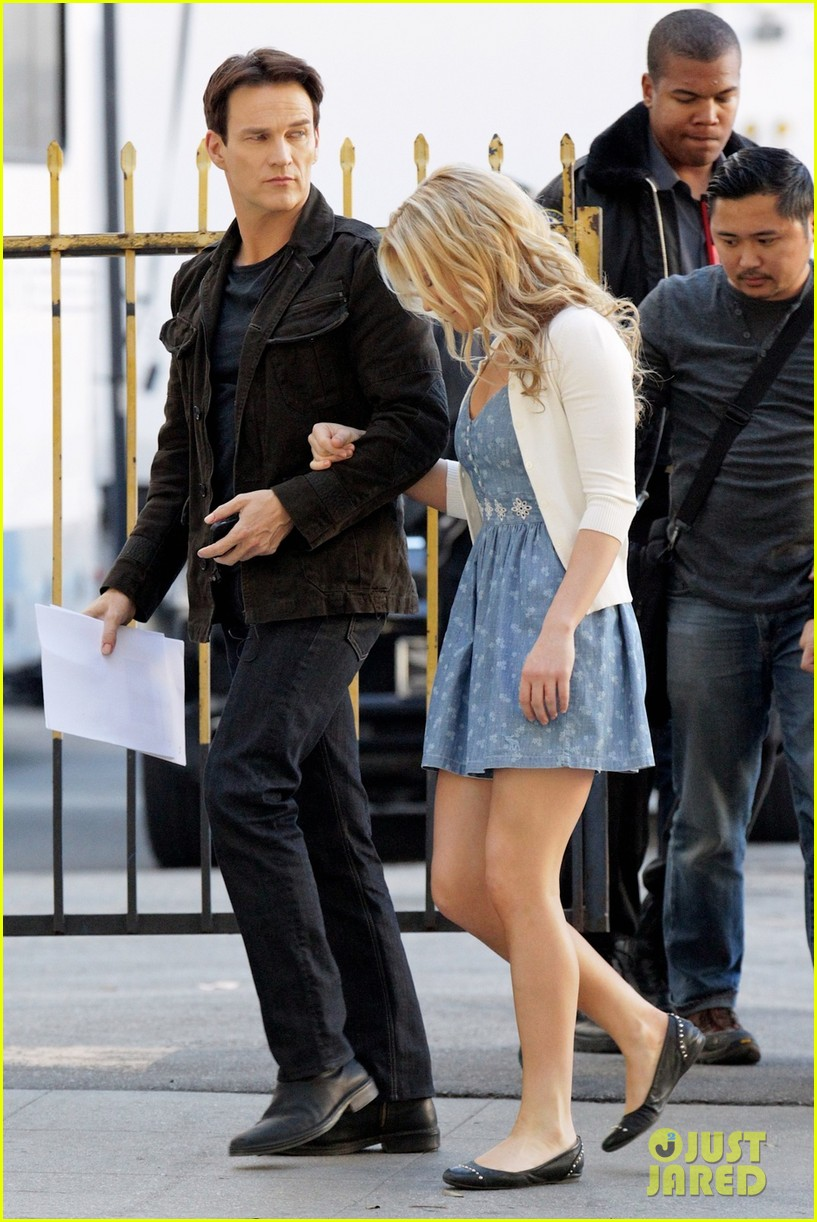 anna paquin stephen moyer commercial shoot couple 053010540