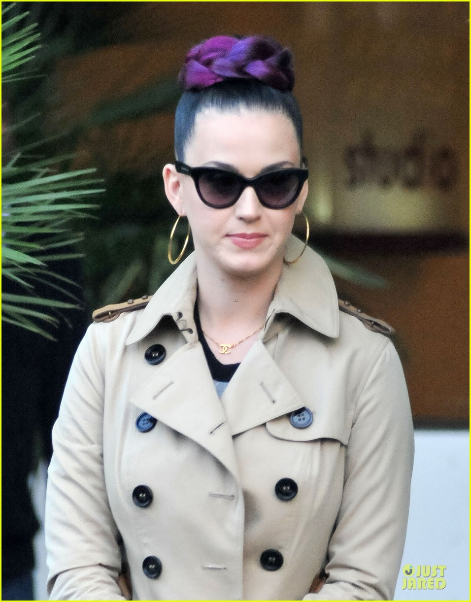 katy perry rocks purple hair braids for itv studios 07