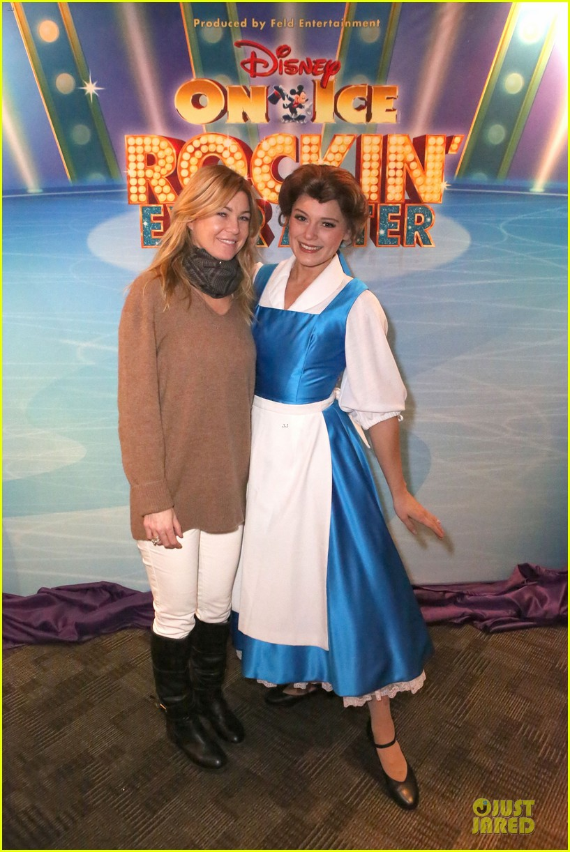 ellen pompeo chris ivery disney on ice with stella 013012109