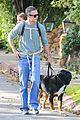 freddie prinze jr walks the dog with son rocky 01