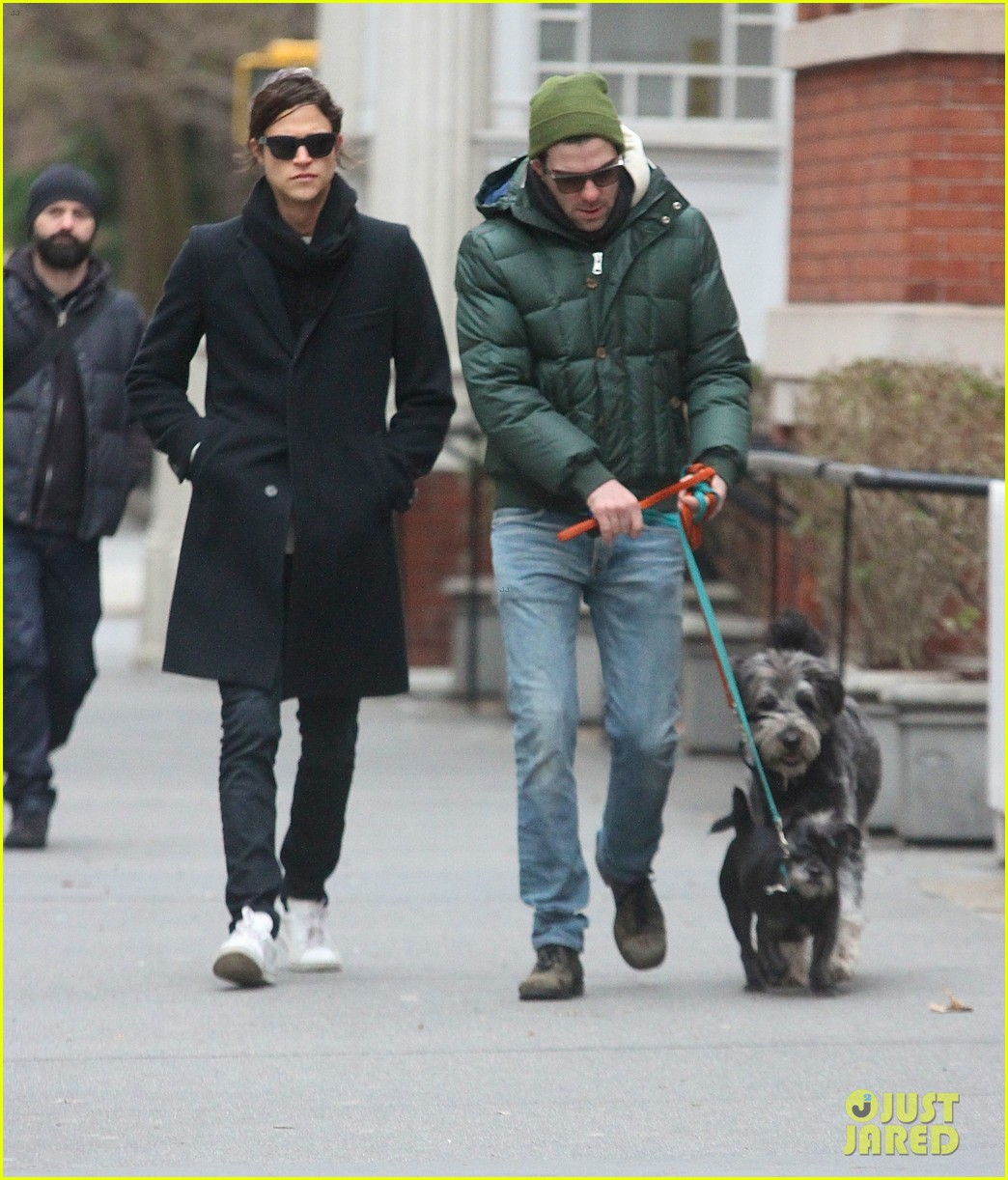 zachary quinto boyfriend miles mcmillan walk their dogs 02