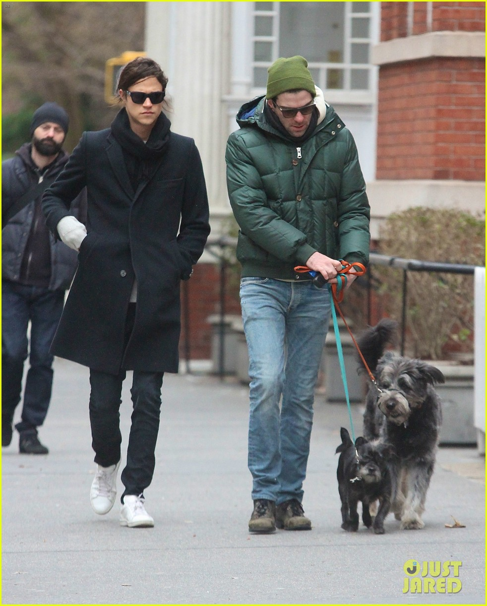zachary quinto boyfriend miles mcmillan walk their dogs 05