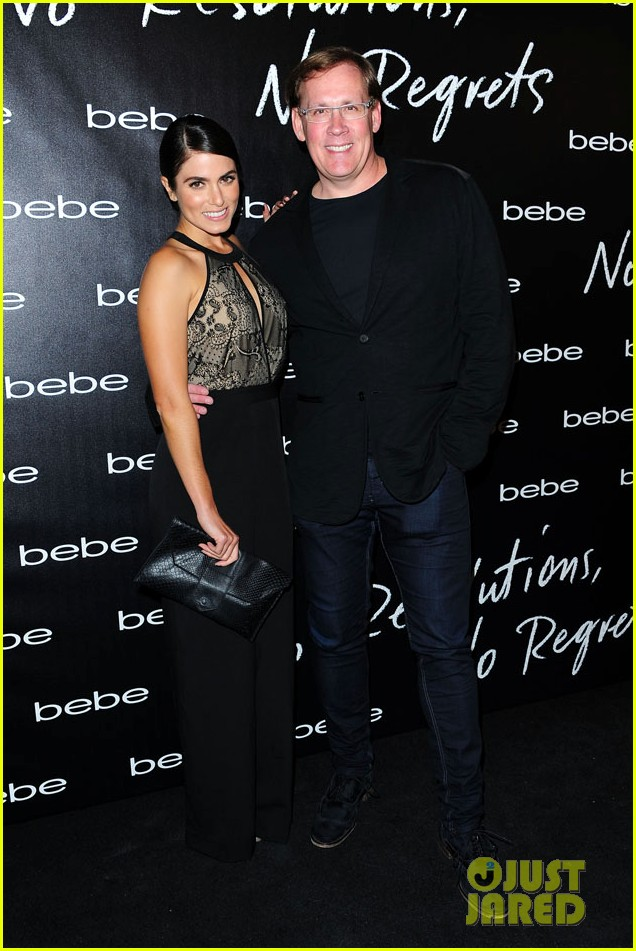 nikki reed nina agdal bebe holiday party 01