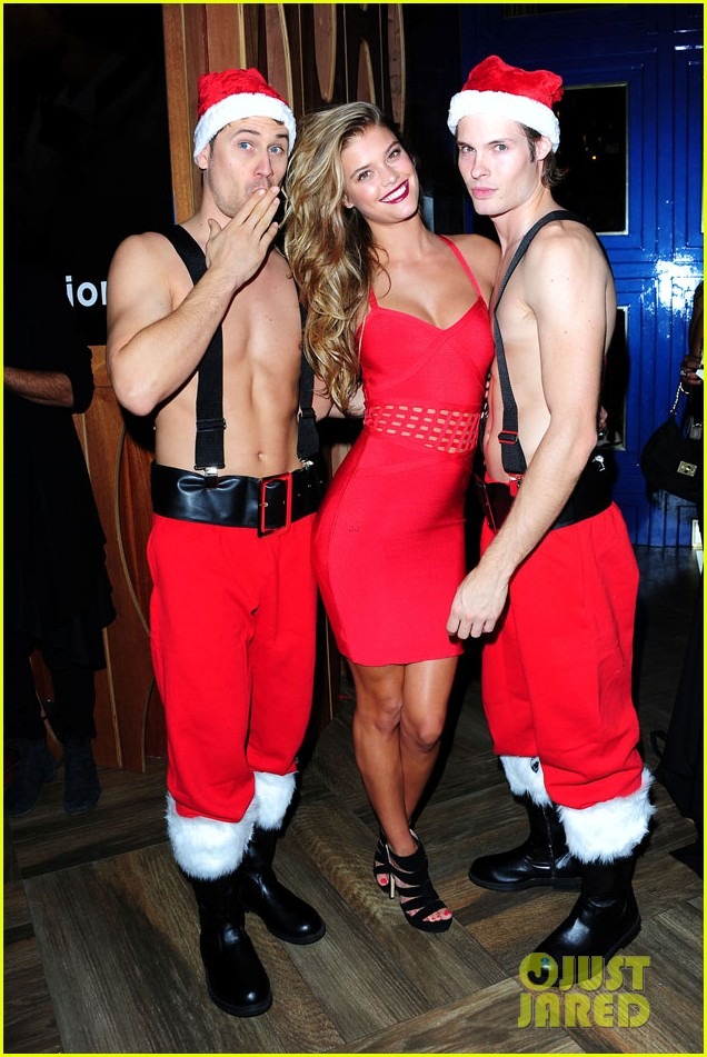 nikki reed nina agdal bebe holiday party 263006373