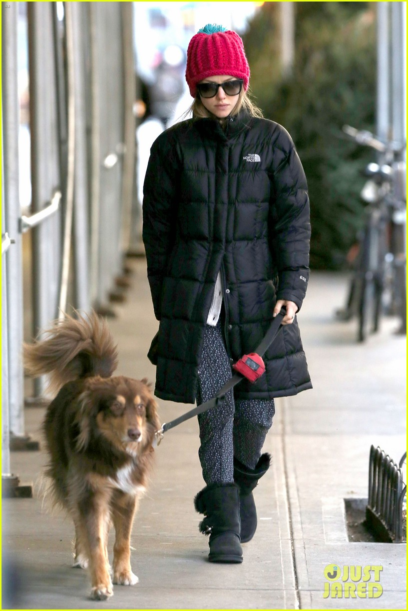 amanda seyfried monday morning dog walk with finn 07