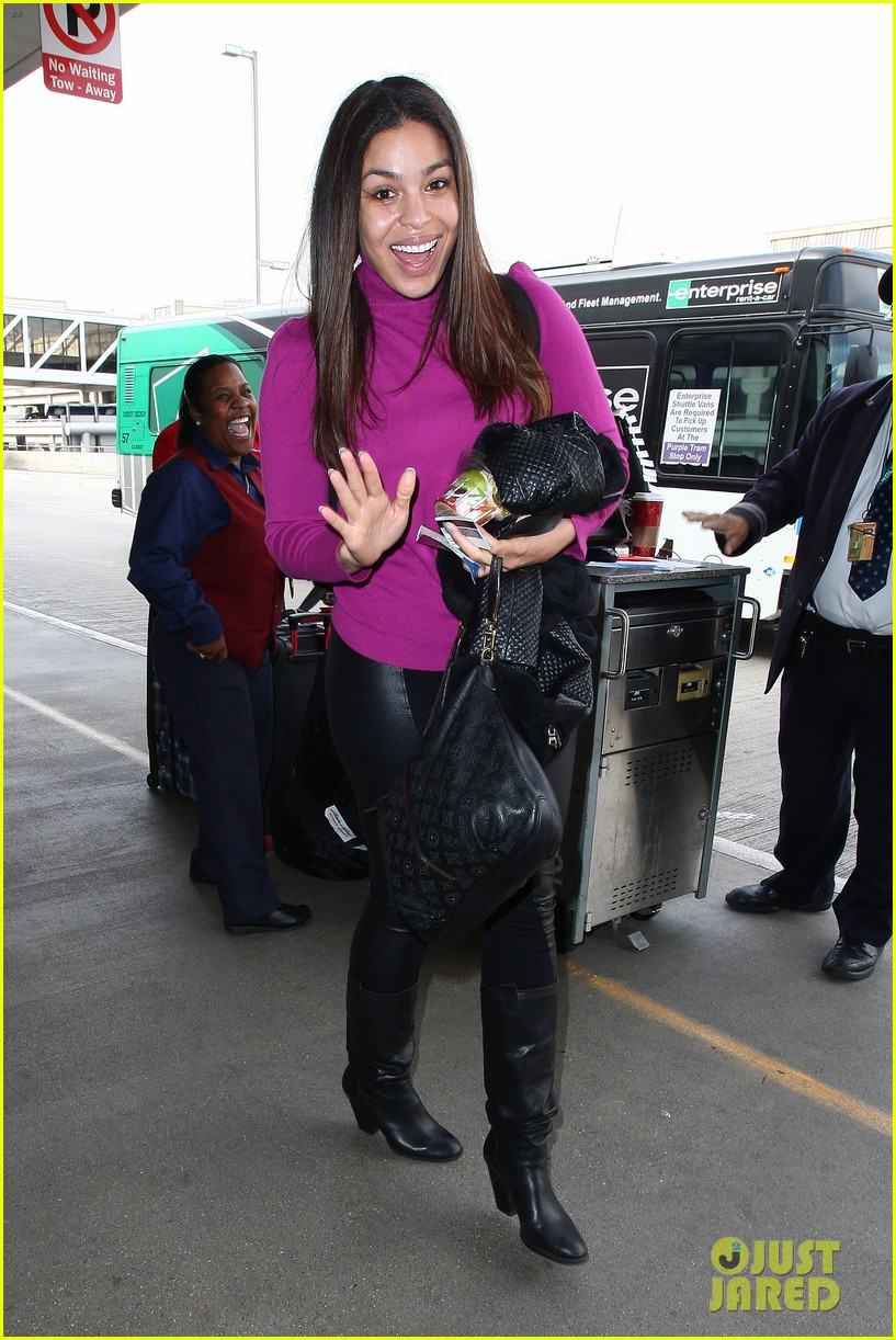 jordin sparks jennifer hudson idol ladies at lax airport 013014705