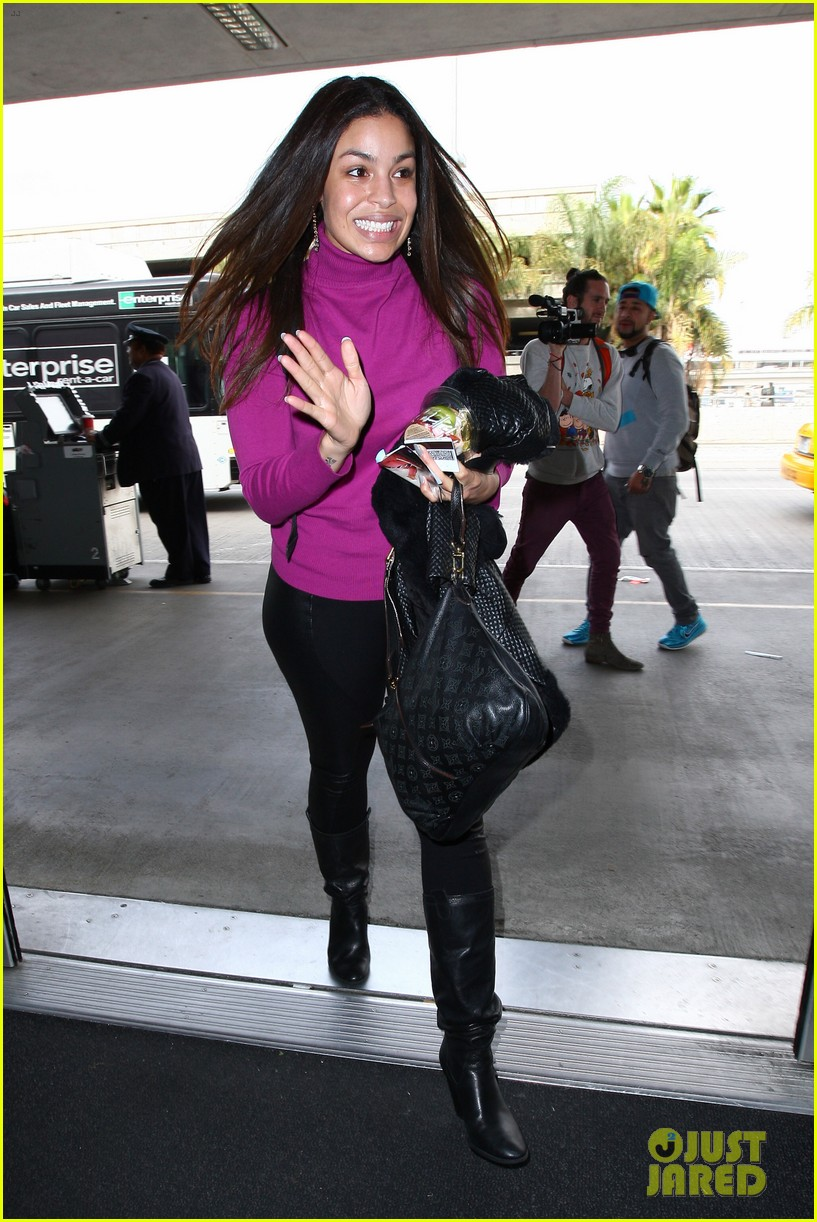 jordin sparks jennifer hudson idol ladies at lax airport 033014707