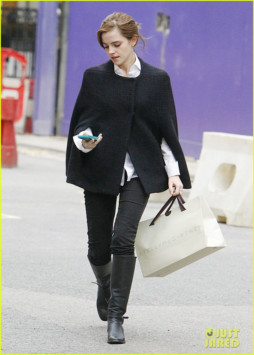 emma watson goes shopping at stella mccartney in london 02